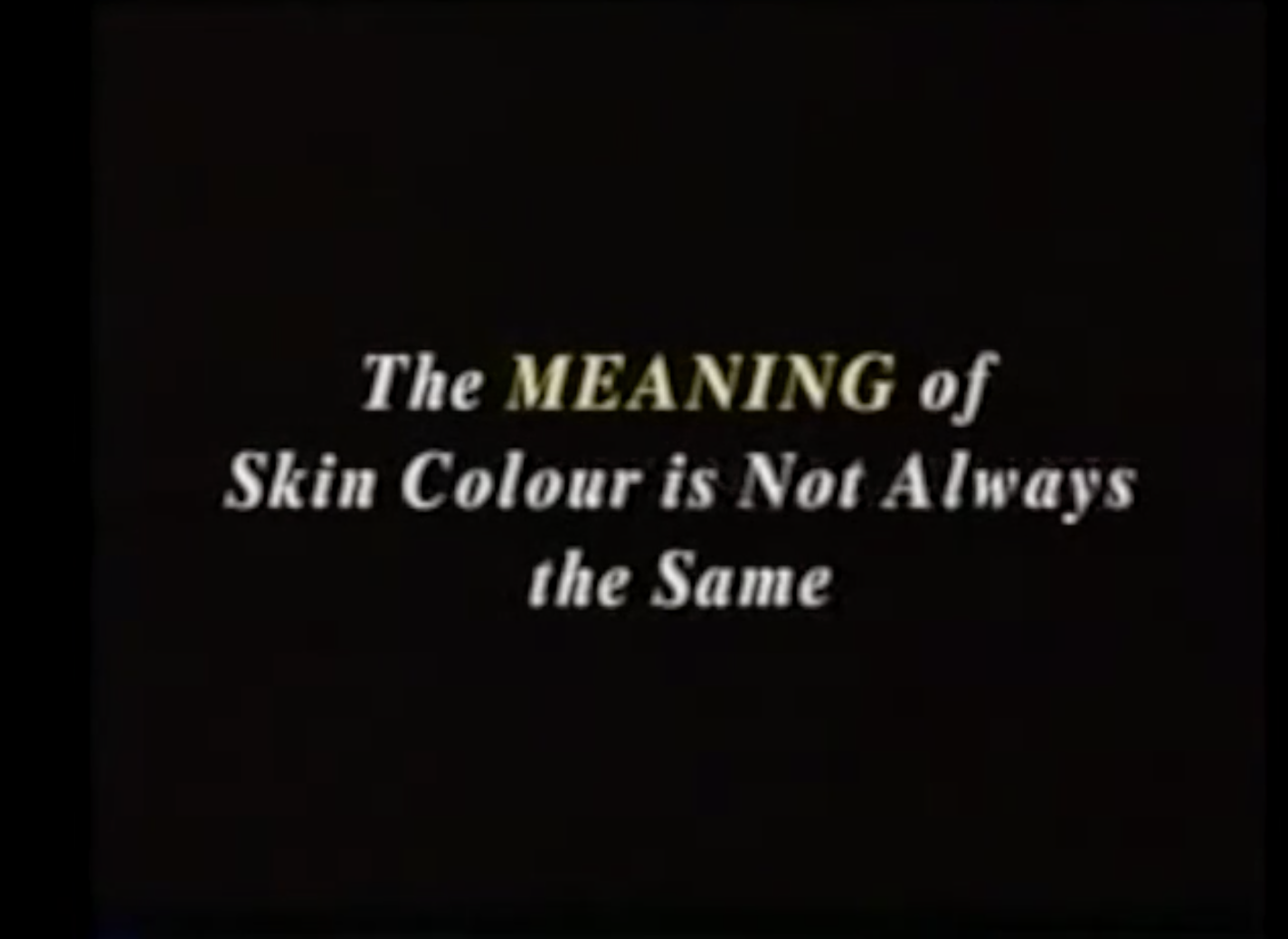 race the floating signifier Stuart hall race -- the floating signifier directed by sut jally, media education  foundation, 1997 classification and power work together classification.